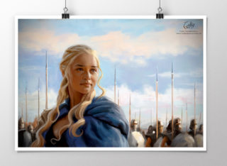 Portrait of Daenerys Targaryen from Game of Thrones print