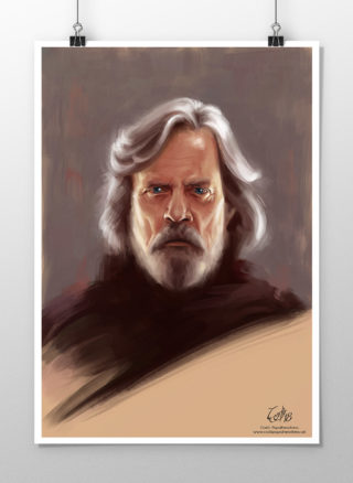 Luke Skywalker portrait print