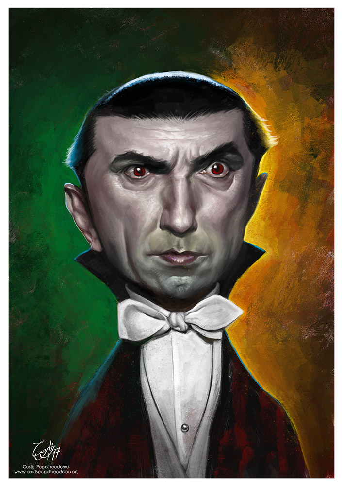 BEWARE! Time lapse painting of the Bela Lugosi caricature