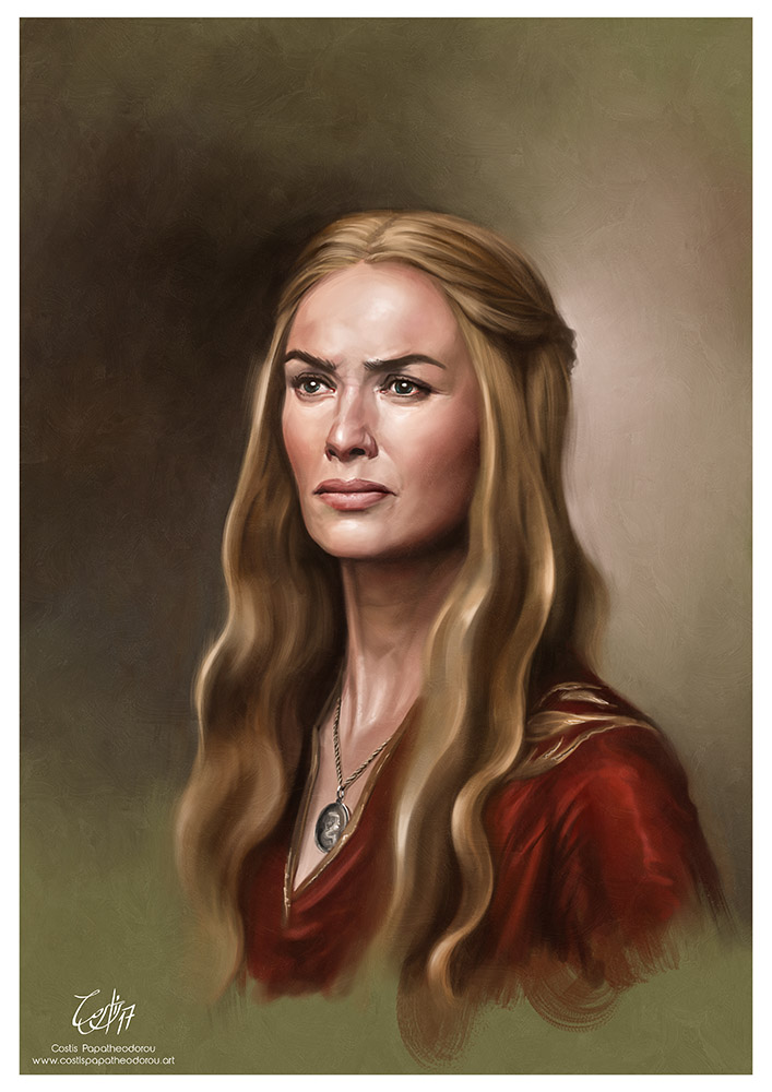 Cersei Lannister portrait from Game of Thrones