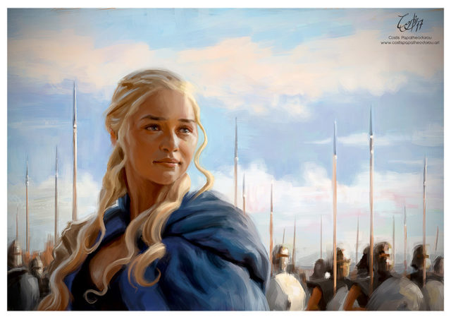 Daenerys Targaryen portrait from Game of Thrones