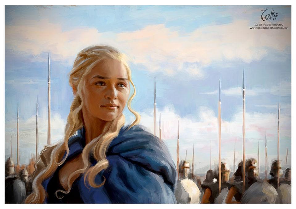 Daenerys Targaryen portrait from Game of Thrones