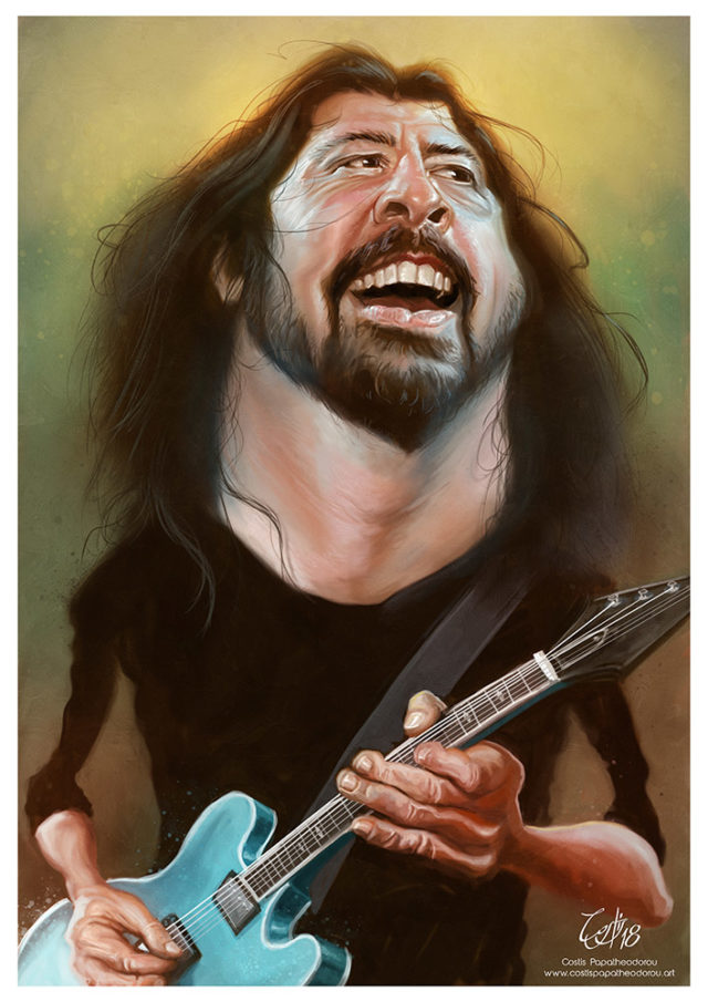 Dave Grohl caricature