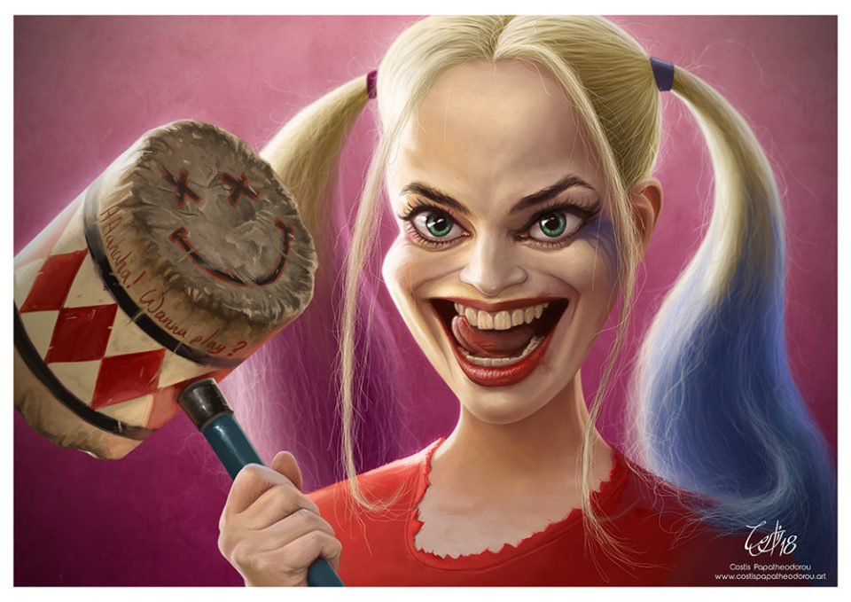 Harley Quinn caricature