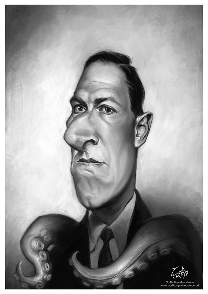 H. P. Lovecraft caricature