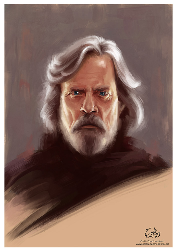 Luke Skywalker portrait