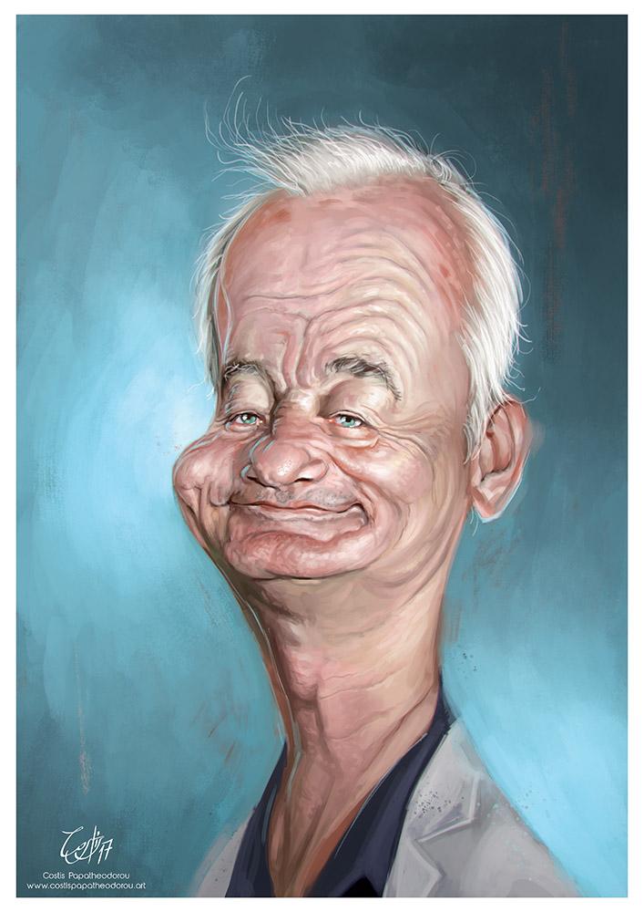 Bill Murray caricature