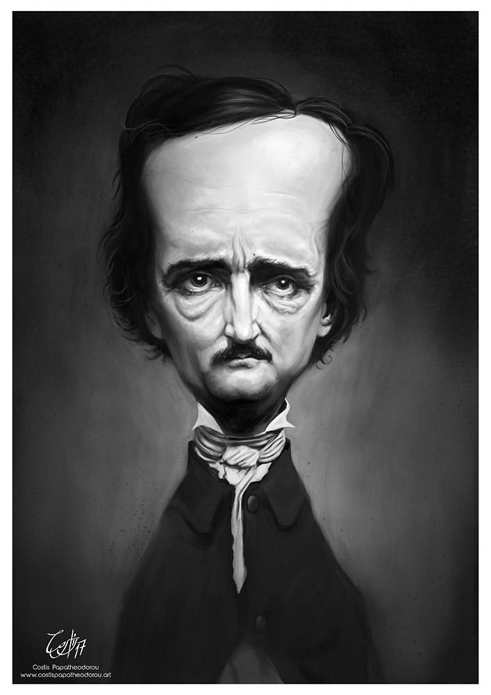 Edgar Allan Poe caricature