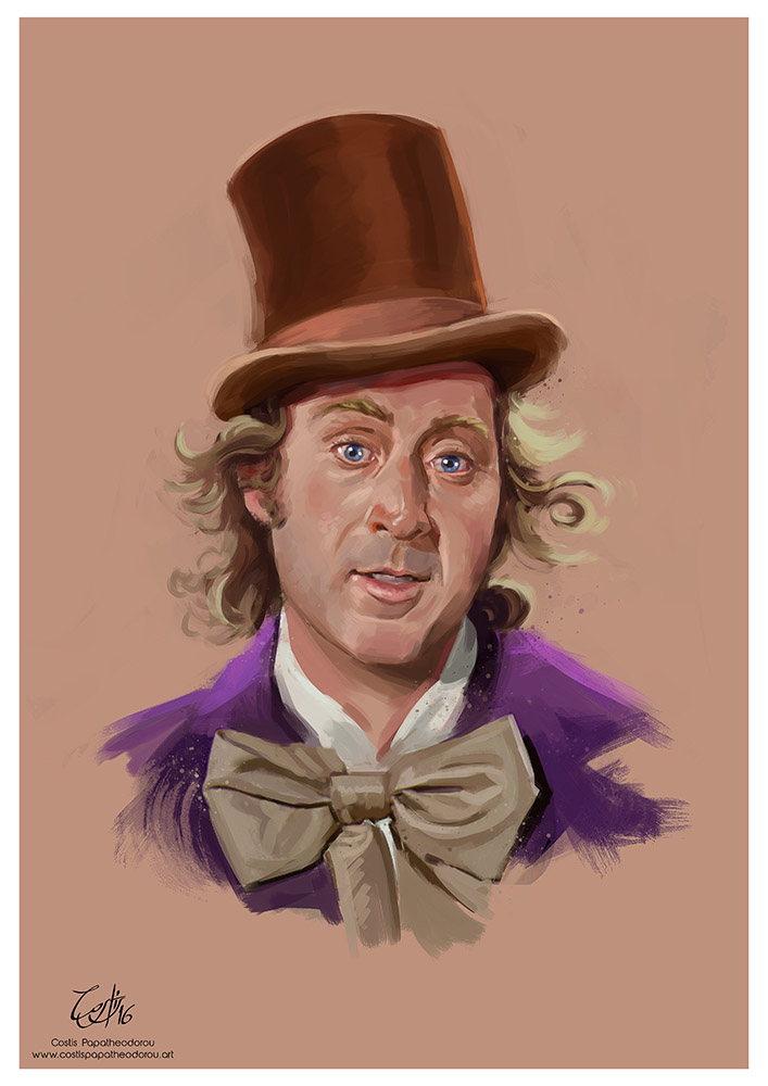 Portrait of Gene Wilder as Willy Wonka