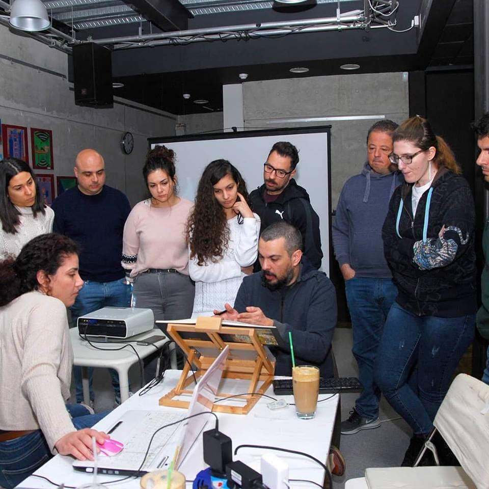 Costis Papatheodorou's digital painting workshop at Graphic Stories Cyprus