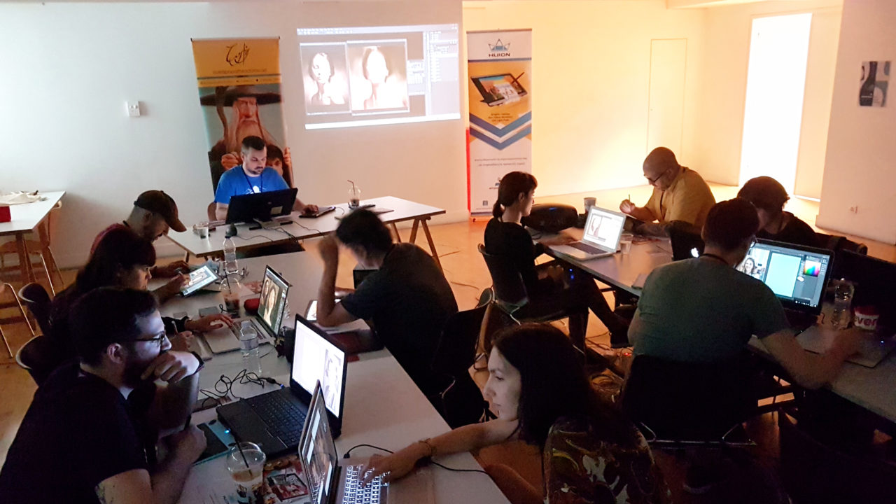Digital painting workshop in Athens
