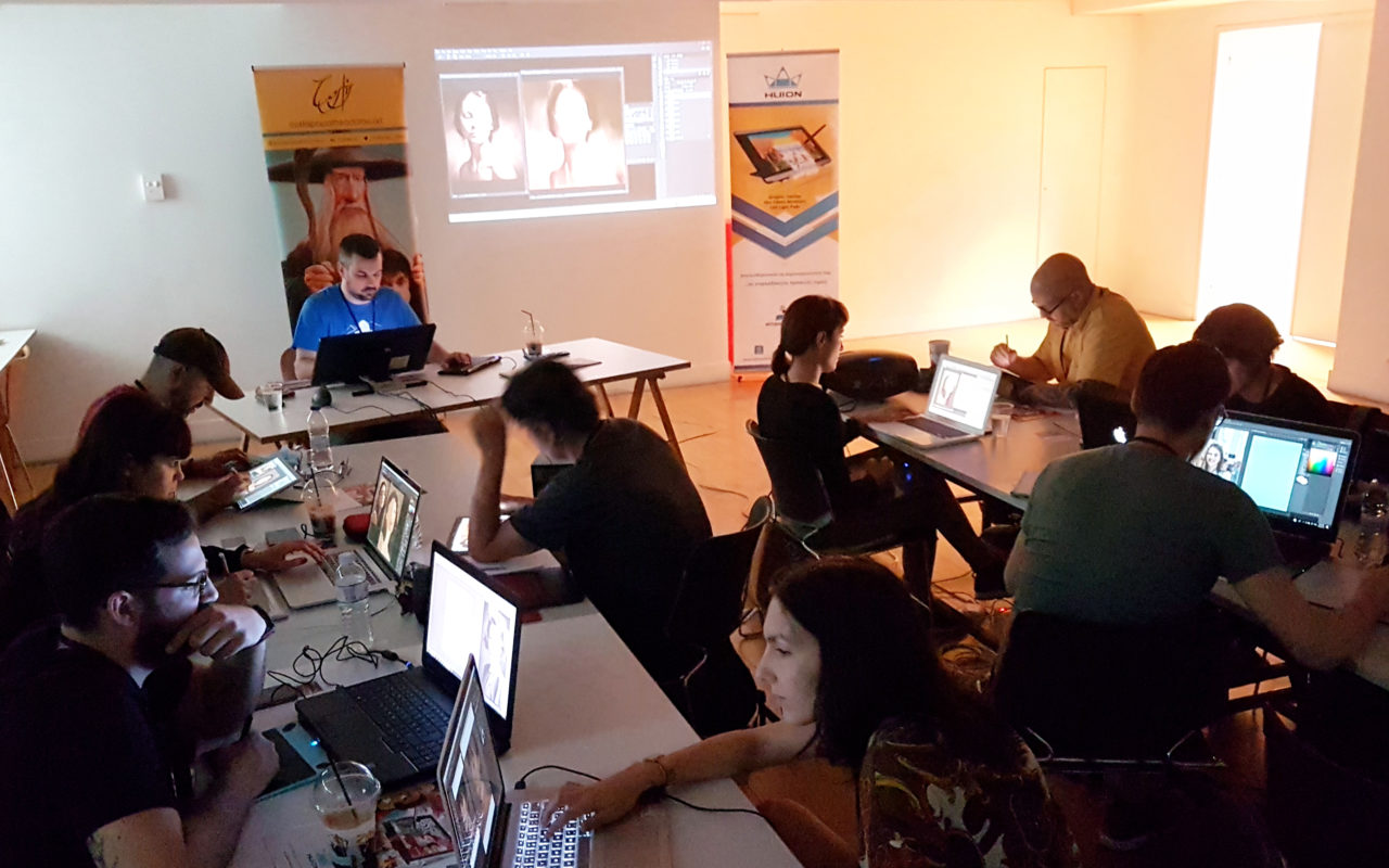Digital painting workshop Athens